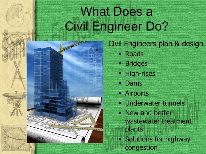 Civil engineers powerpoint presentation powerpoint template.